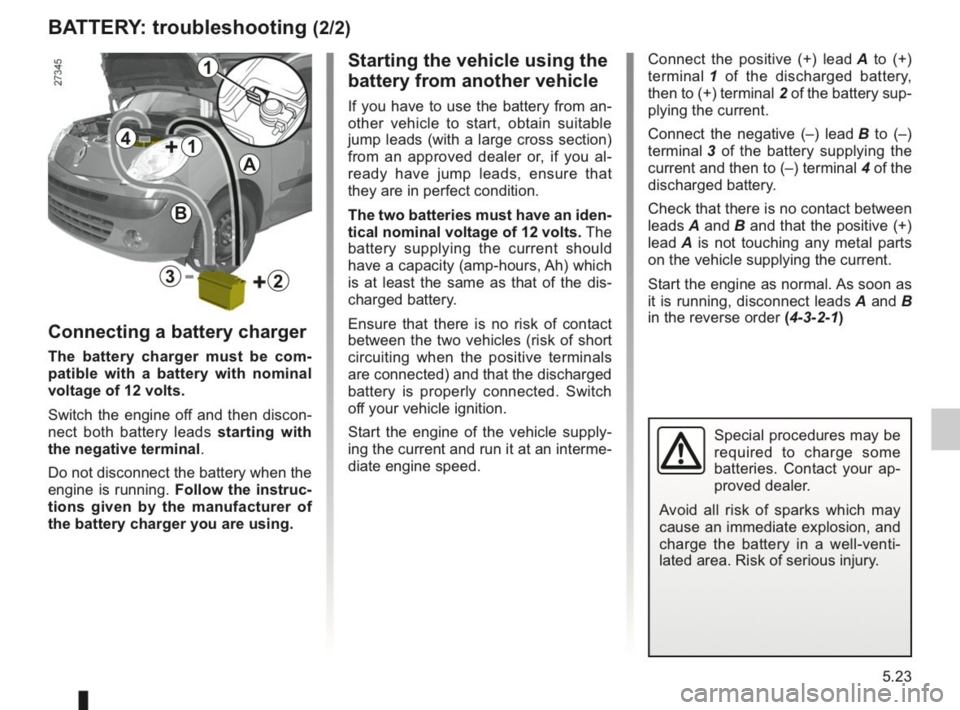 RENAULT KANGOO 2014 X61 / 2.G Owners Manual, Page 180