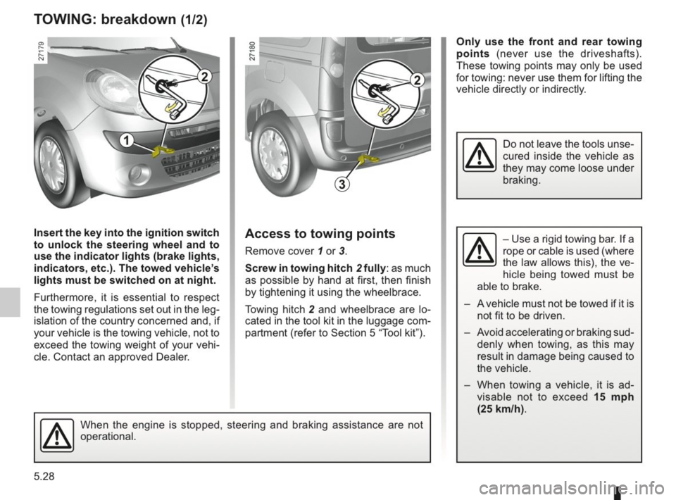 RENAULT KANGOO 2014 X61 / 2.G Owners Manual, Page 185