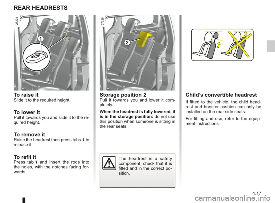 RENAULT KANGOO 2014 X61 / 2.G Owners Manual, Page 22