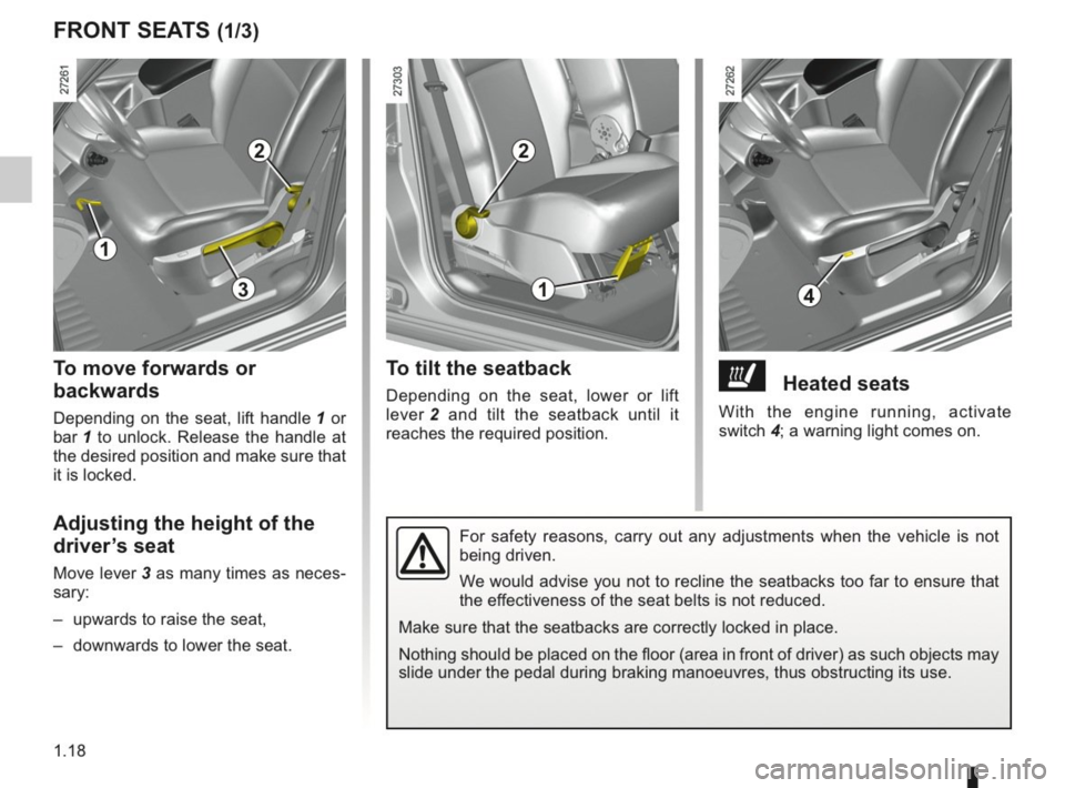 RENAULT KANGOO 2014 X61 / 2.G Owners Manual, Page 23