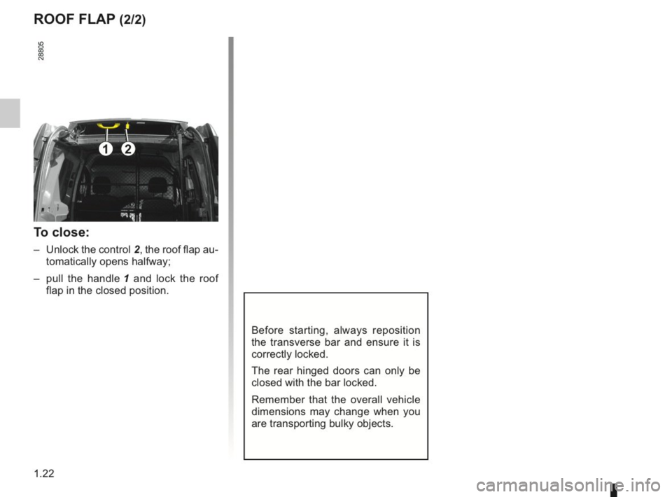 RENAULT KANGOO 2014 X61 / 2.G Owners Manual, Page 27
