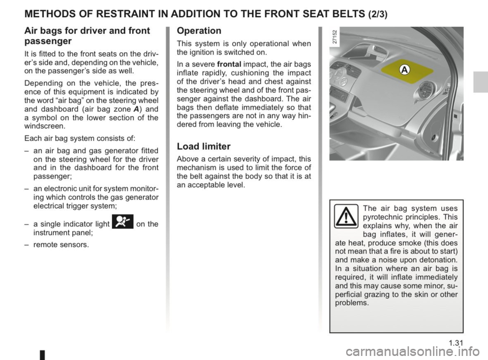 RENAULT KANGOO 2014 X61 / 2.G Owners Manual, Page 36