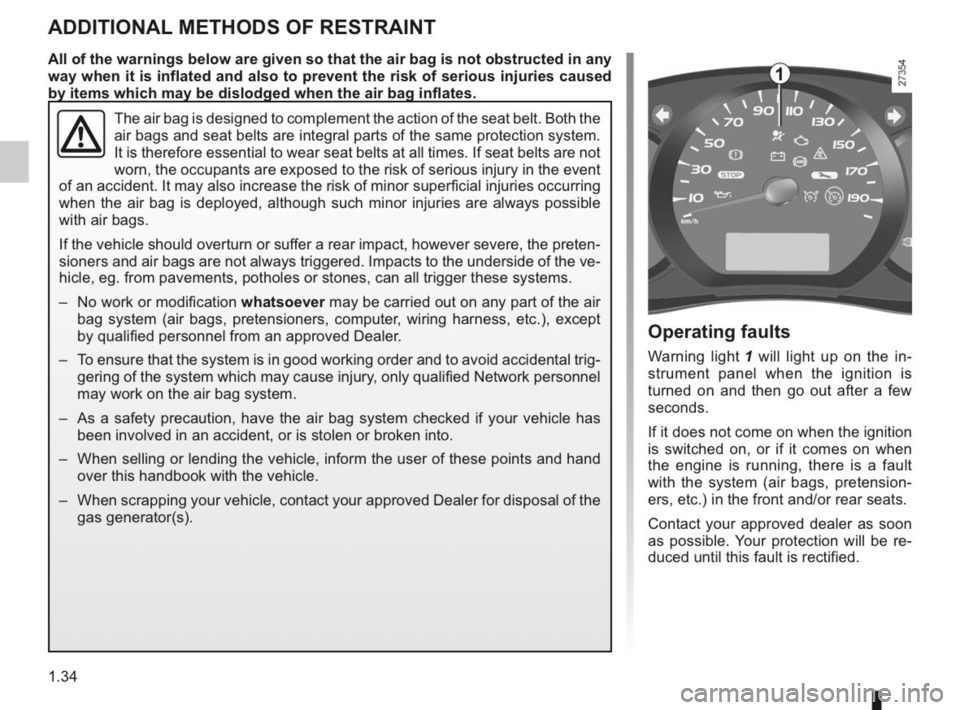 RENAULT KANGOO 2014 X61 / 2.G Owners Manual, Page 39