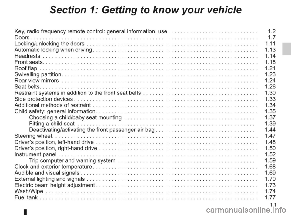 RENAULT KANGOO 2014 X61 / 2.G Owners Manual, Page 6