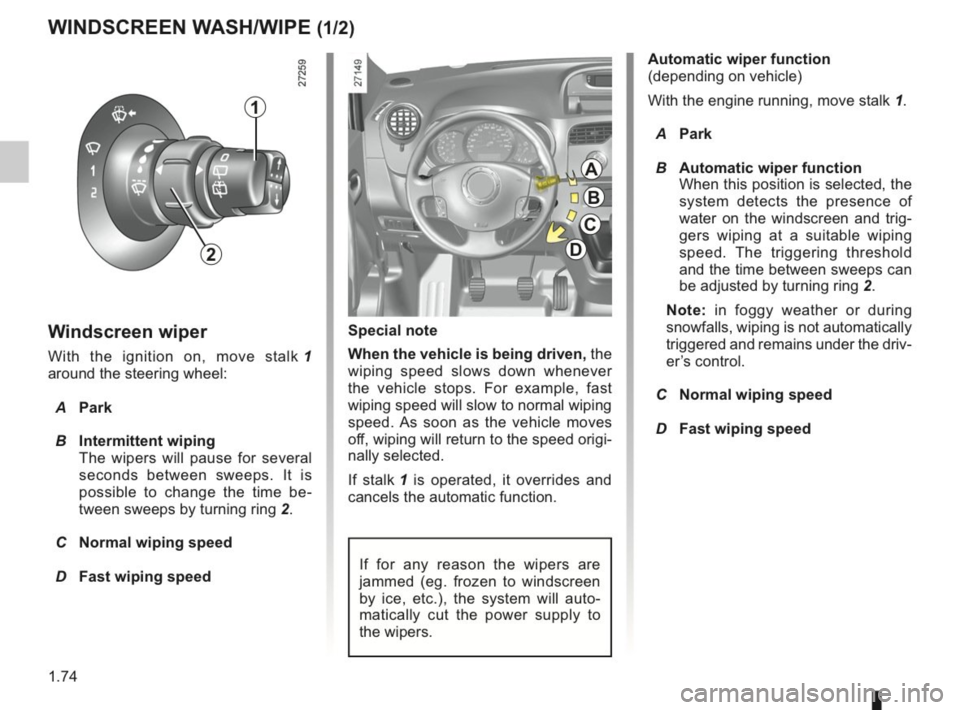 RENAULT KANGOO 2014 X61 / 2.G Owners Manual, Page 79