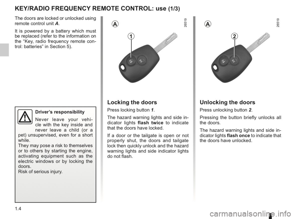 RENAULT KANGOO 2014 X61 / 2.G Owners Manual, Page 9