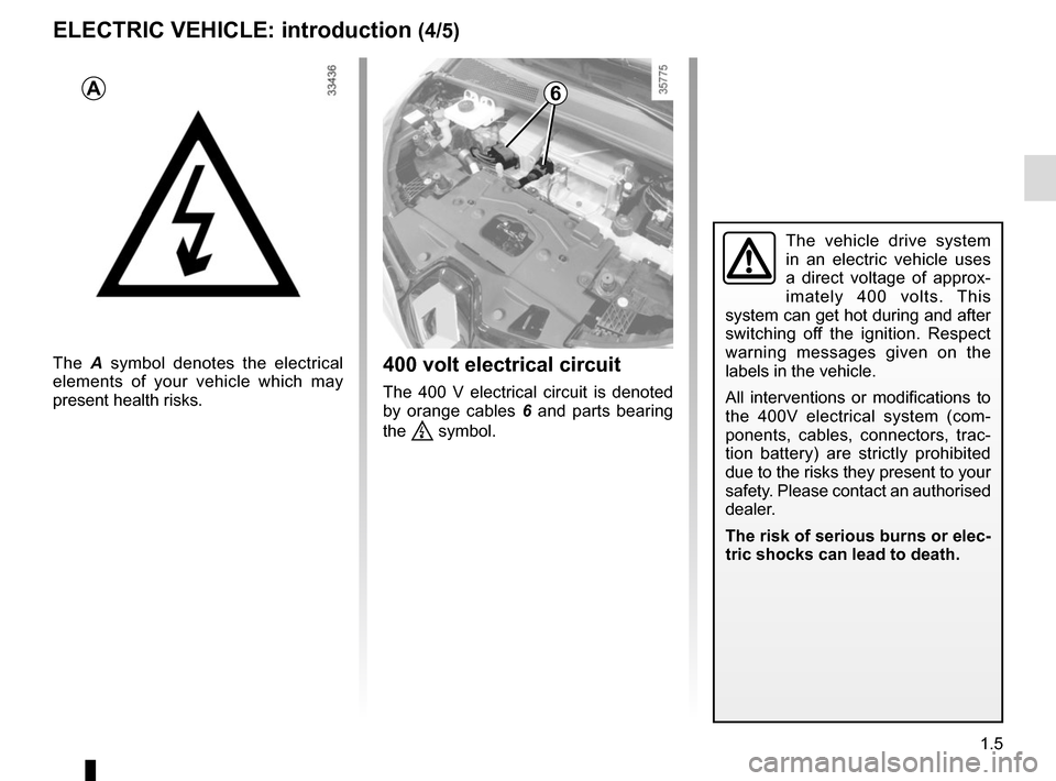 RENAULT ZOE 2014 1.G Owners Manual, Page 11
