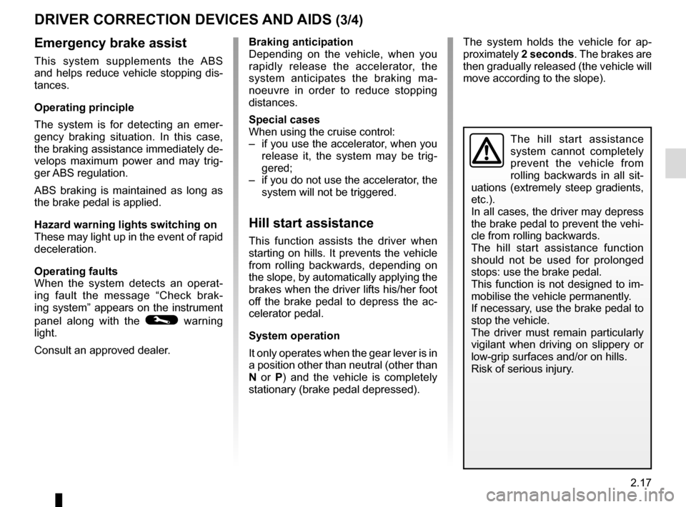 RENAULT ZOE 2014 1.G Owners Manual, Page 107