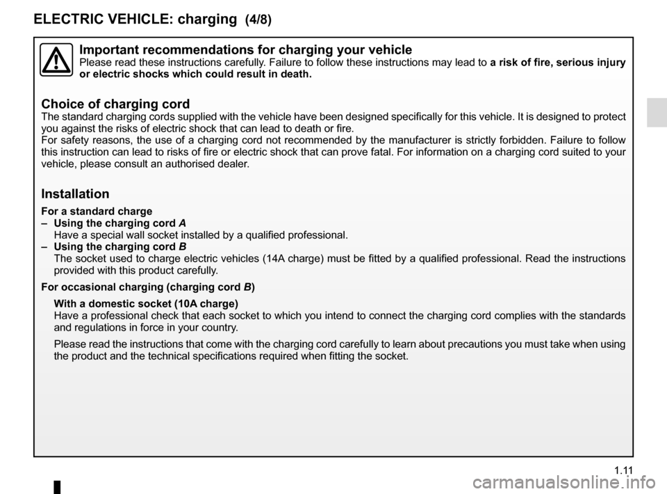 RENAULT ZOE 2014 1.G Owners Manual, Page 17