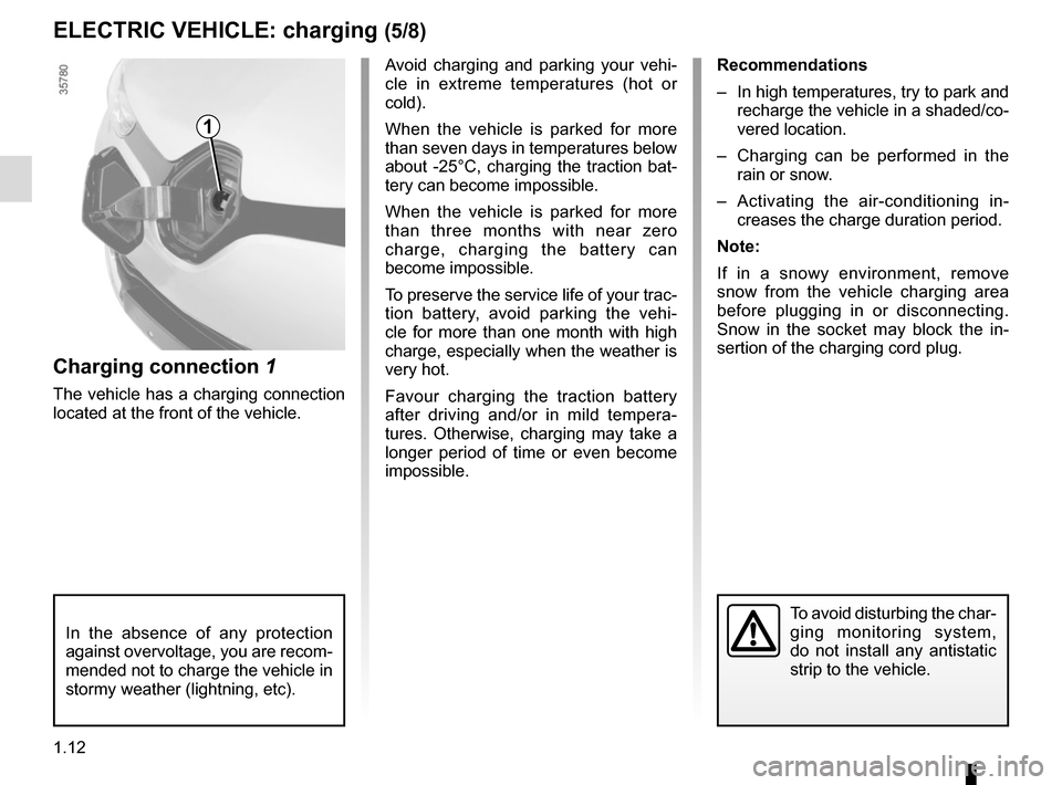 RENAULT ZOE 2014 1.G Owners Manual, Page 18