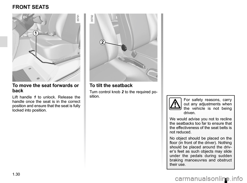 RENAULT ZOE 2014 1.G Owners Manual, Page 36