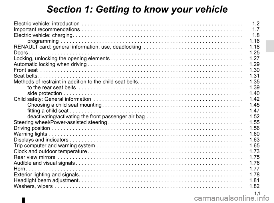 RENAULT ZOE 2014 1.G Owners Manual, Page 7