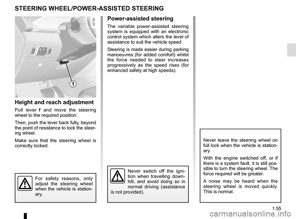 RENAULT ZOE 2014 1.G Owners Manual, Page 61
