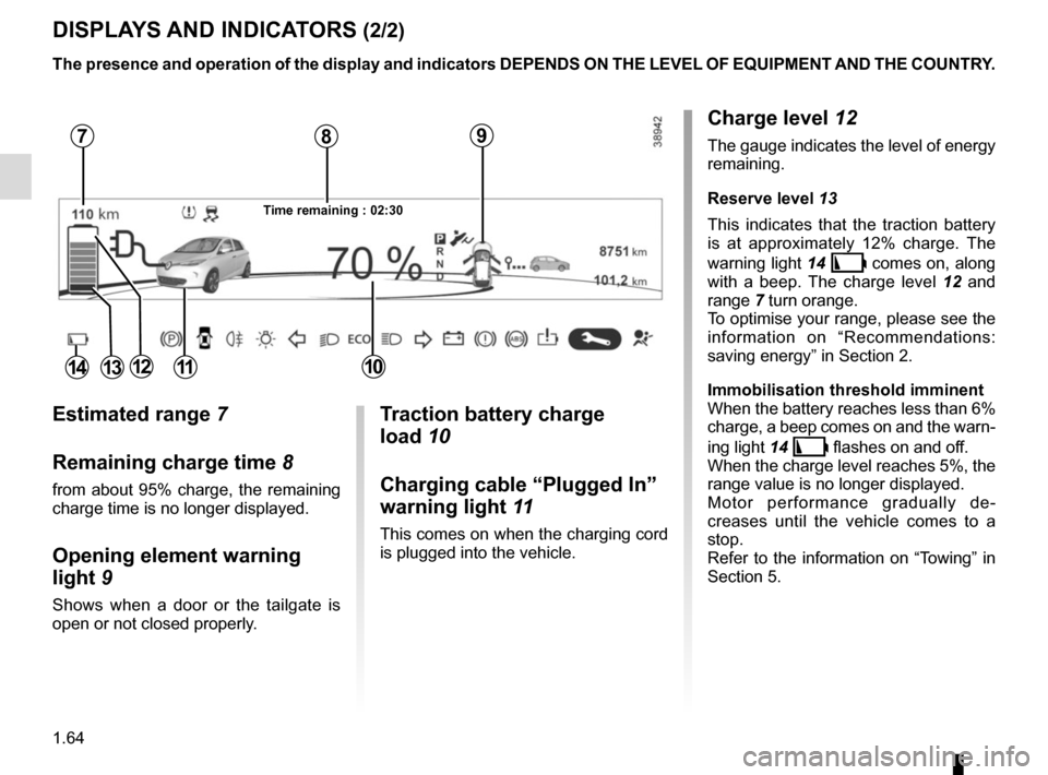 RENAULT ZOE 2014 1.G Owners Manual, Page 70