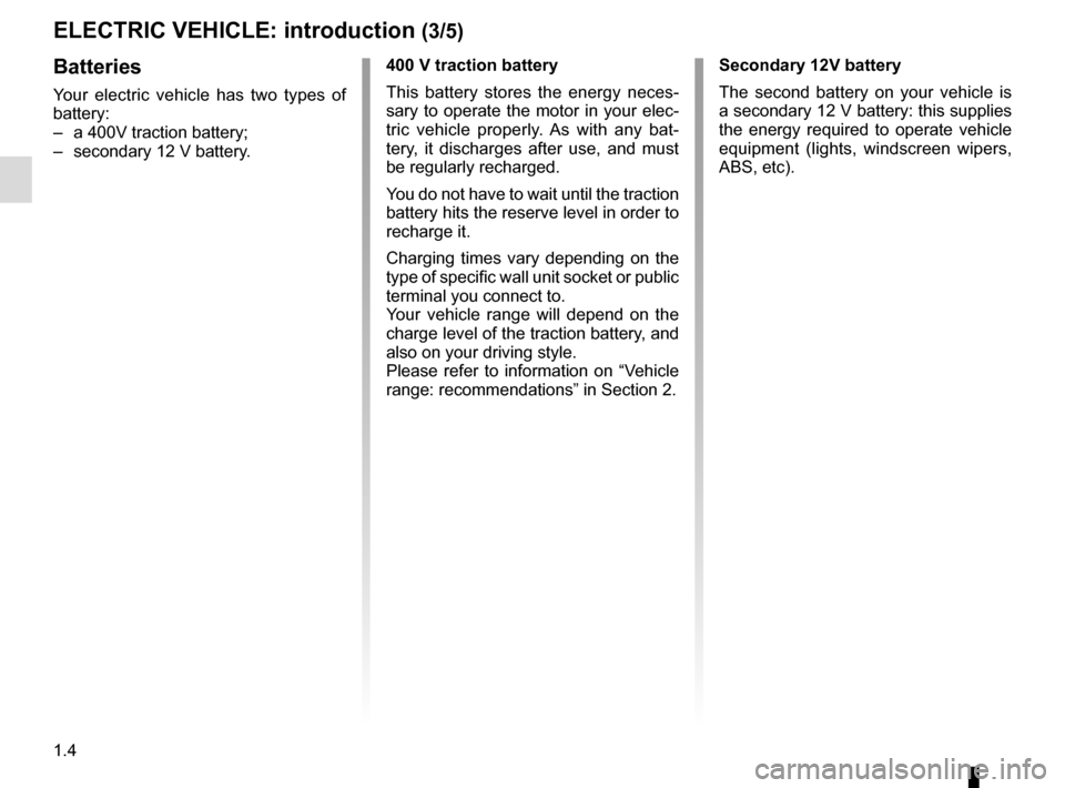RENAULT ZOE 2014 1.G Owners Manual, Page 10