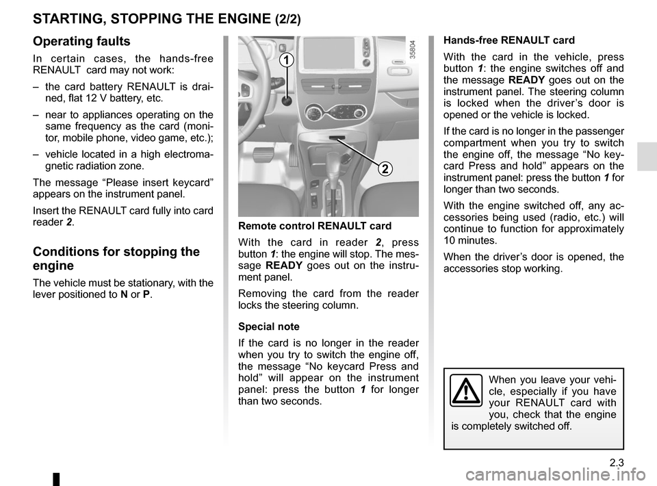 RENAULT ZOE 2014 1.G Owners Manual, Page 93