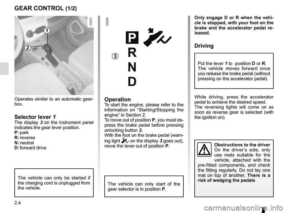 RENAULT ZOE 2014 1.G Owners Manual, Page 94