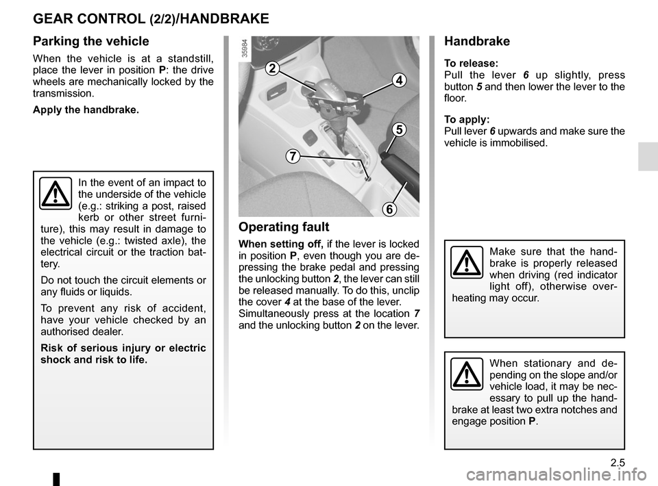 RENAULT ZOE 2014 1.G Owners Manual, Page 95