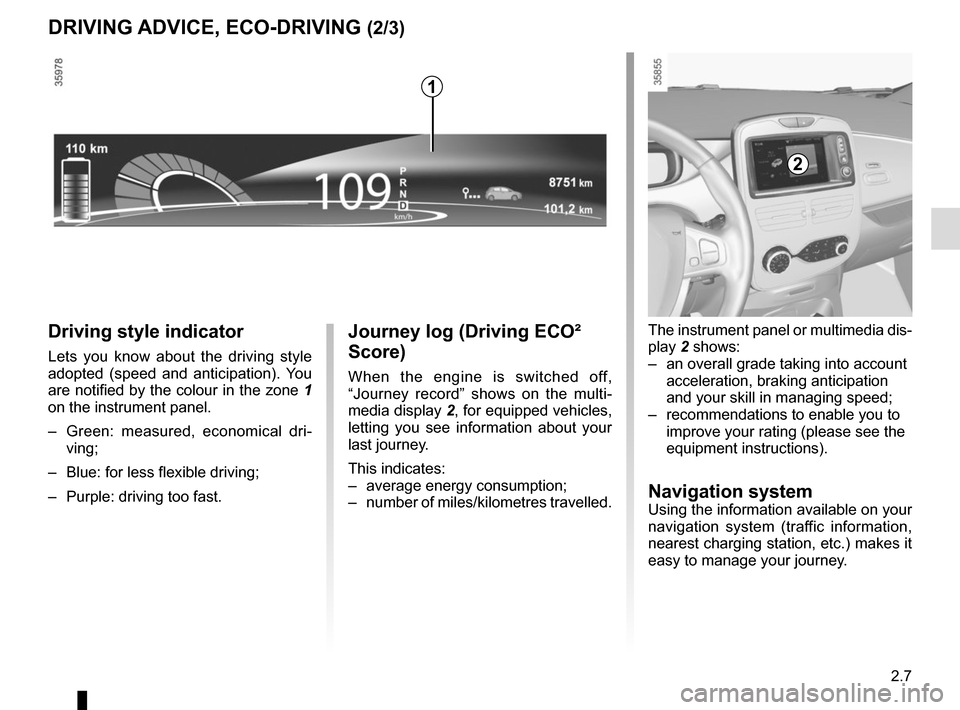 RENAULT ZOE 2014 1.G Owners Manual, Page 97