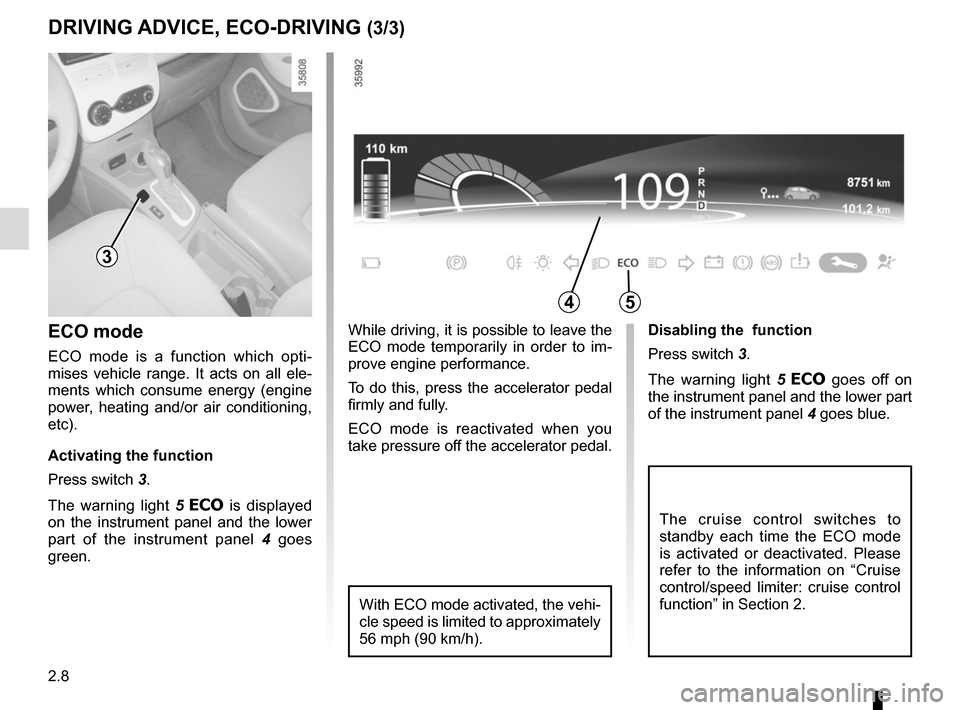 RENAULT ZOE 2014 1.G Owners Manual, Page 98