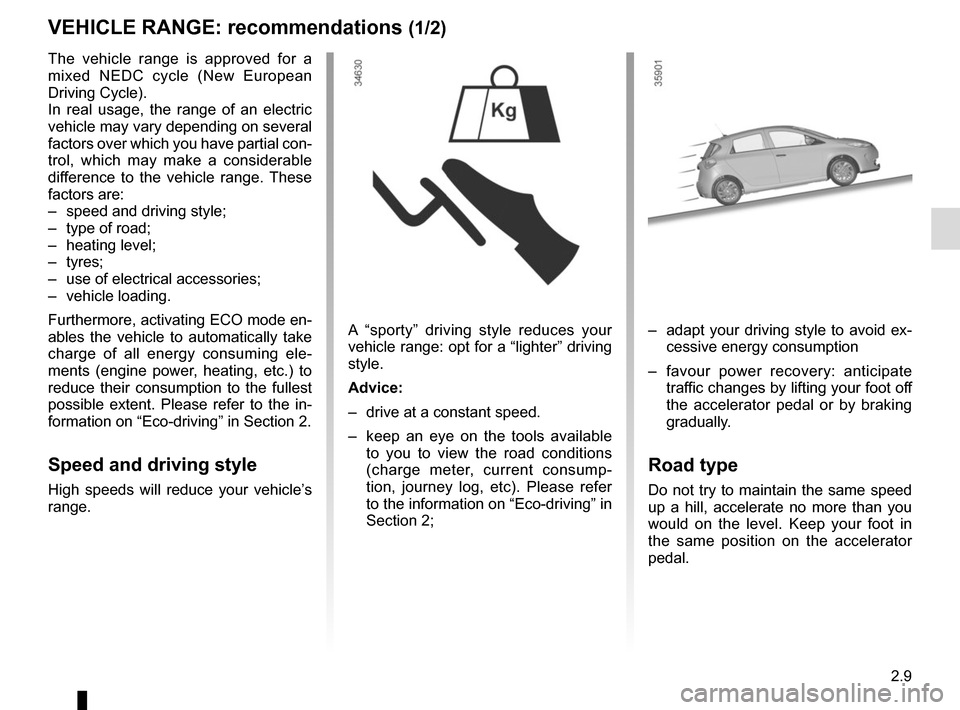 RENAULT ZOE 2014 1.G Owners Manual, Page 99