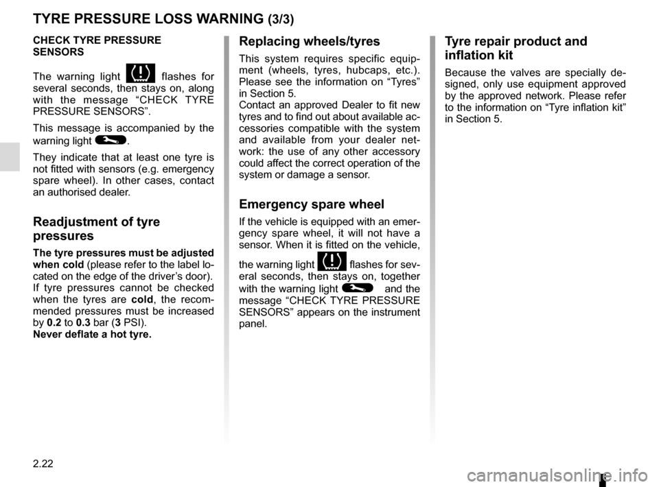 RENAULT CLIO 2015 X98 / 4.G Owners Manual, Page 112