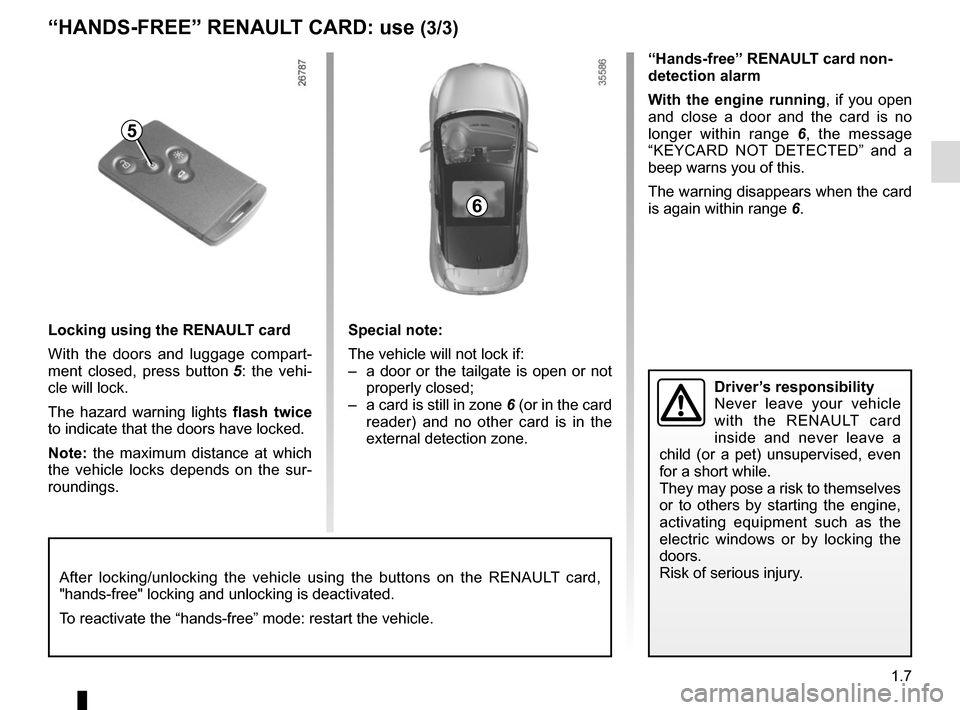 RENAULT CLIO 2015 X98 / 4.G Owners Manual, Page 13