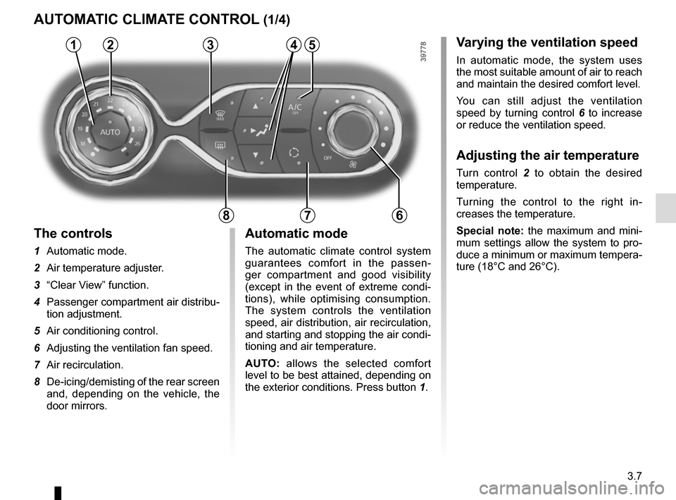 RENAULT CLIO 2015 X98 / 4.G Owners Manual, Page 137