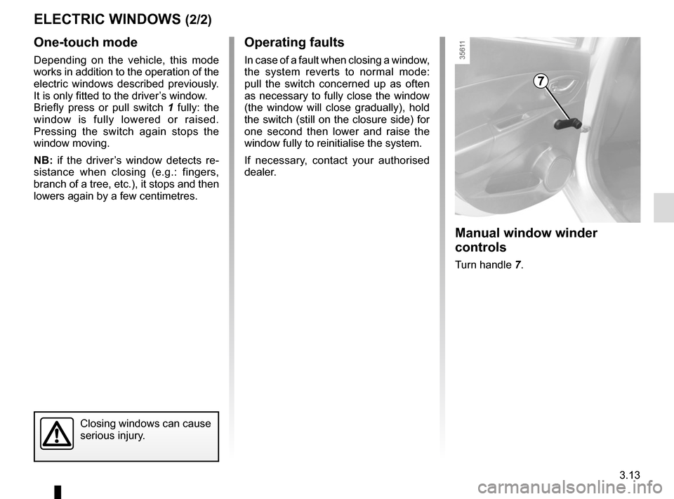 RENAULT CLIO 2015 X98 / 4.G Owners Manual, Page 143