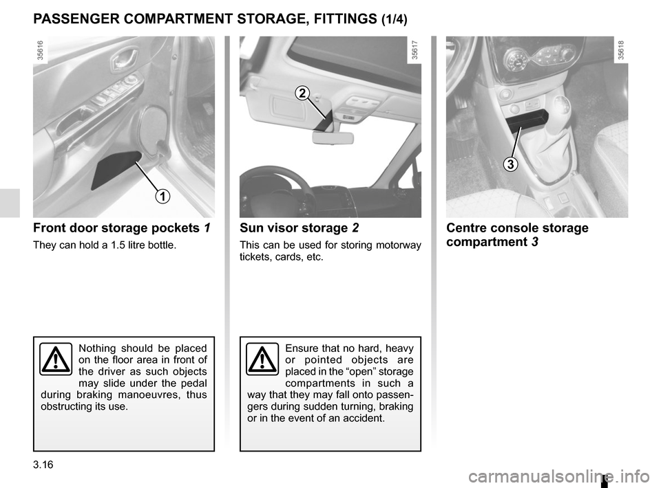 RENAULT CLIO 2015 X98 / 4.G Owners Manual, Page 146