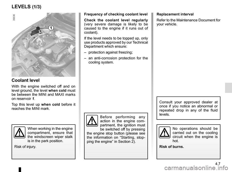 RENAULT CLIO 2015 X98 / 4.G Owners Manual, Page 169