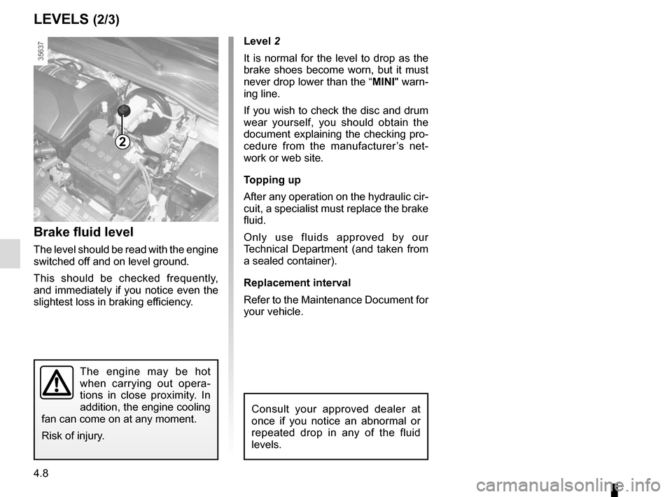 RENAULT CLIO 2015 X98 / 4.G Owners Manual, Page 170