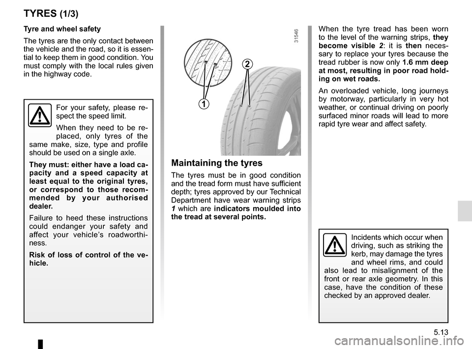 RENAULT CLIO 2015 X98 / 4.G Owners Manual, Page 191