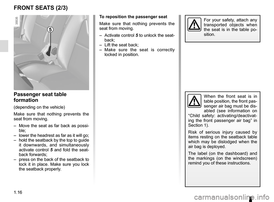 RENAULT CLIO 2015 X98 / 4.G Owners Manual, Page 22
