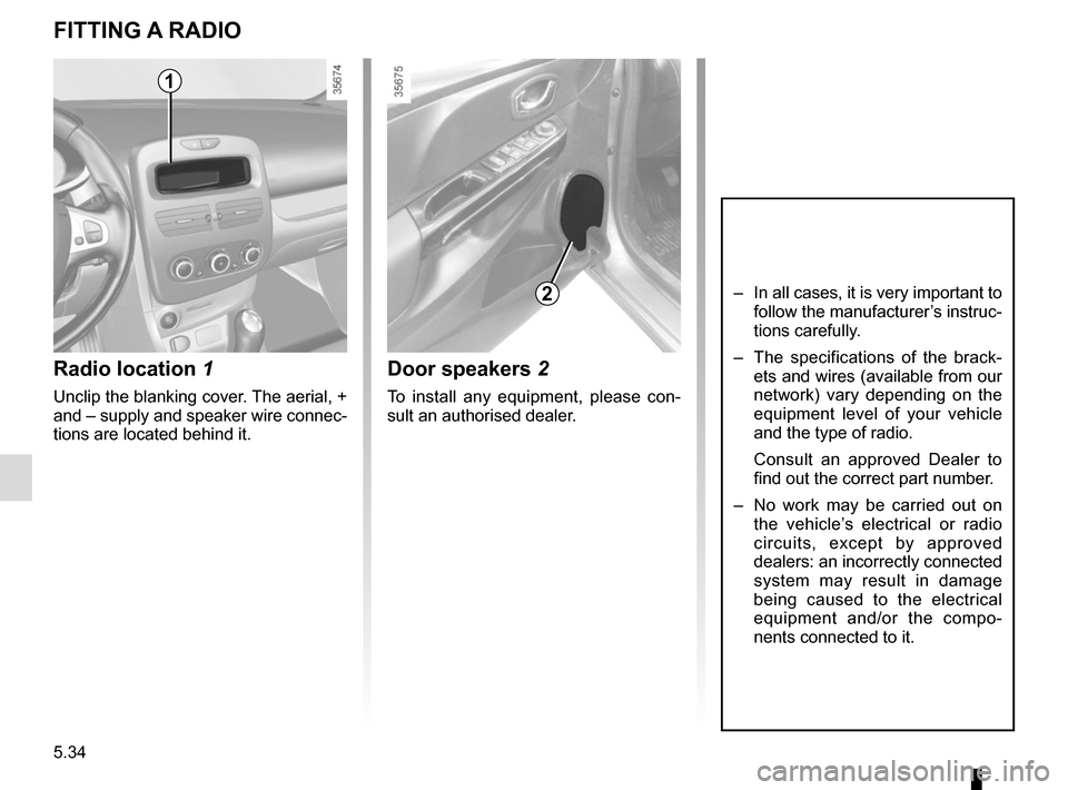 RENAULT CLIO 2015 X98 / 4.G Owners Manual, Page 212