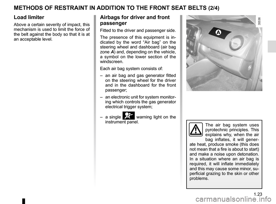 RENAULT CLIO 2015 X98 / 4.G Owners Manual, Page 29