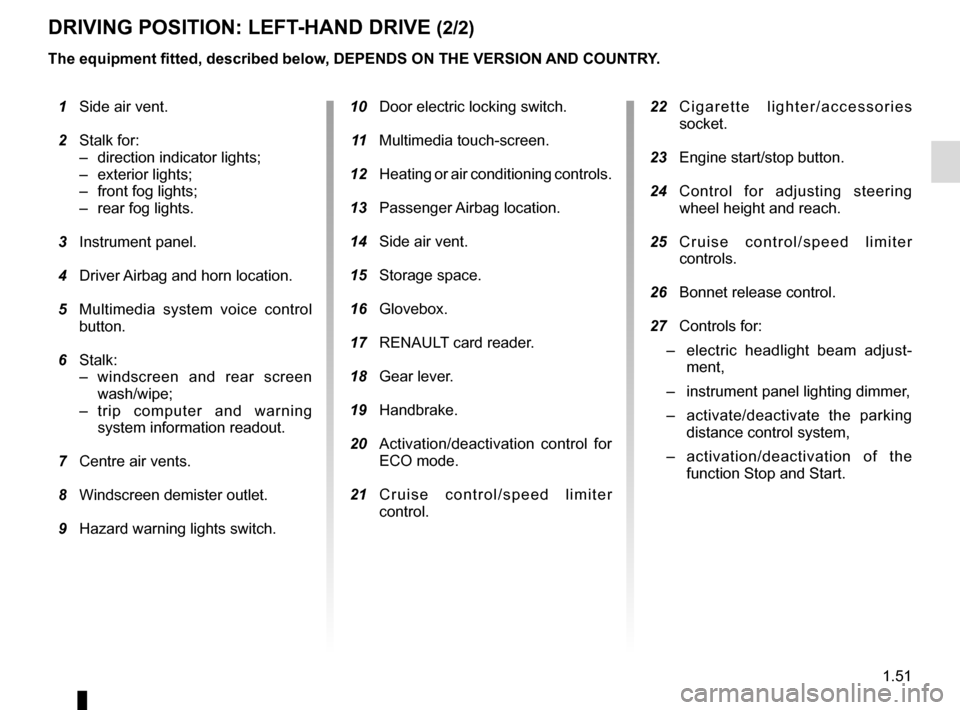 RENAULT CLIO 2015 X98 / 4.G Owners Manual, Page 57