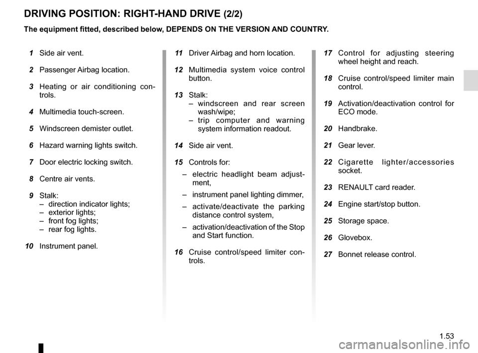 RENAULT CLIO 2015 X98 / 4.G Owners Manual, Page 59