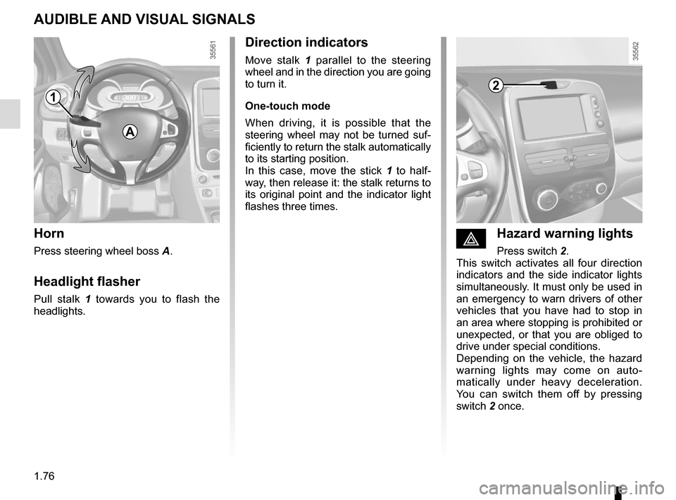 RENAULT CLIO 2015 X98 / 4.G Owners Manual, Page 82