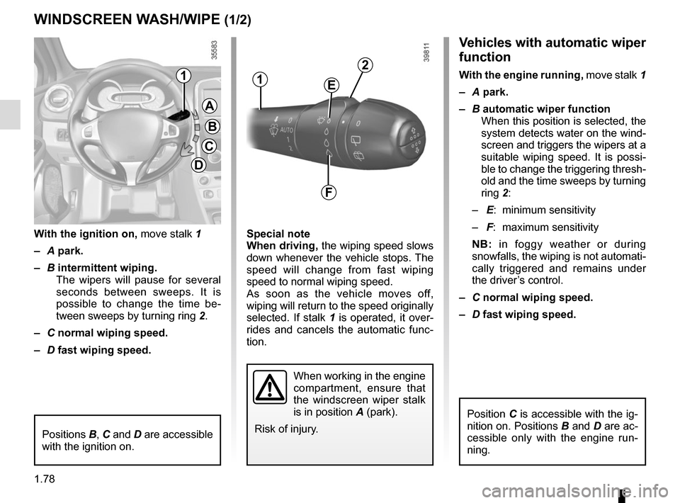 RENAULT CLIO 2015 X98 / 4.G Owners Manual, Page 84