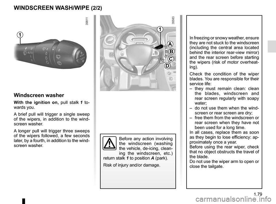 RENAULT CLIO 2015 X98 / 4.G Owners Manual, Page 85