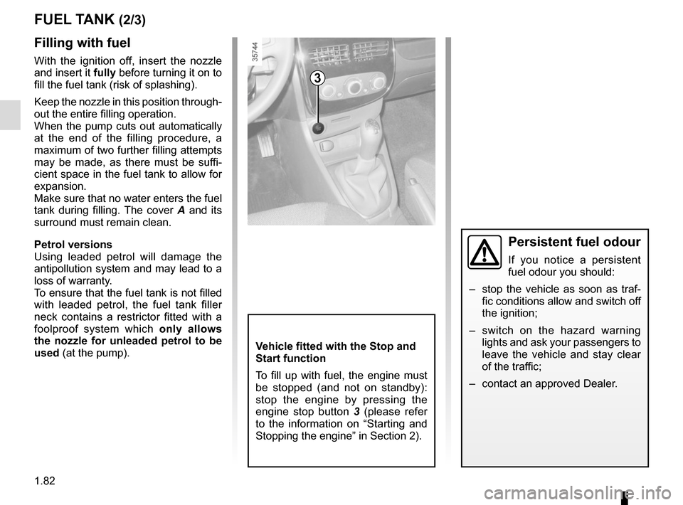RENAULT CLIO 2015 X98 / 4.G Owners Manual, Page 88