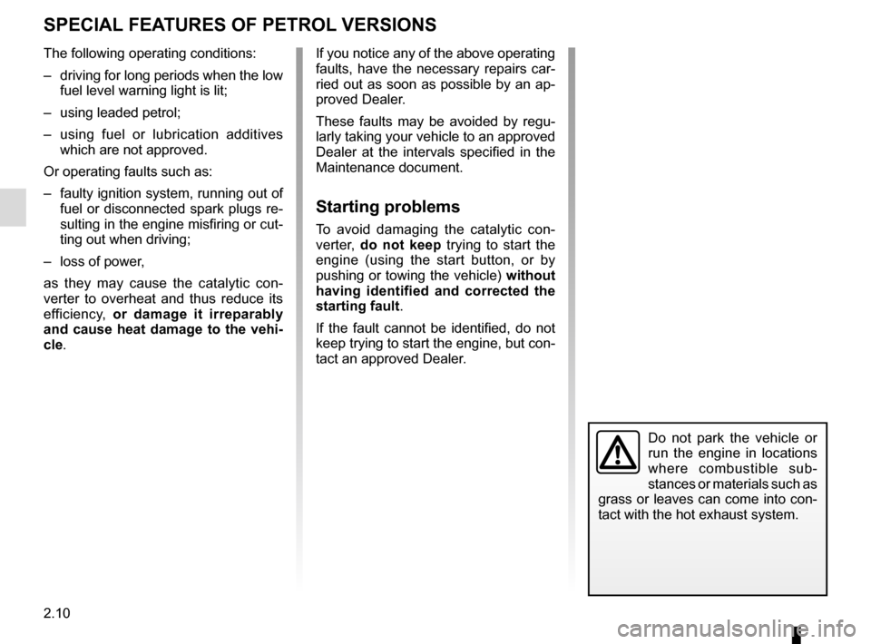 RENAULT CLIO 2015 X98 / 4.G Owners Manual, Page 100