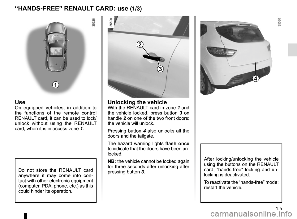 RENAULT CLIO SPORT TOURER 2015 X98 / 4.G Owners Manual, Page 11