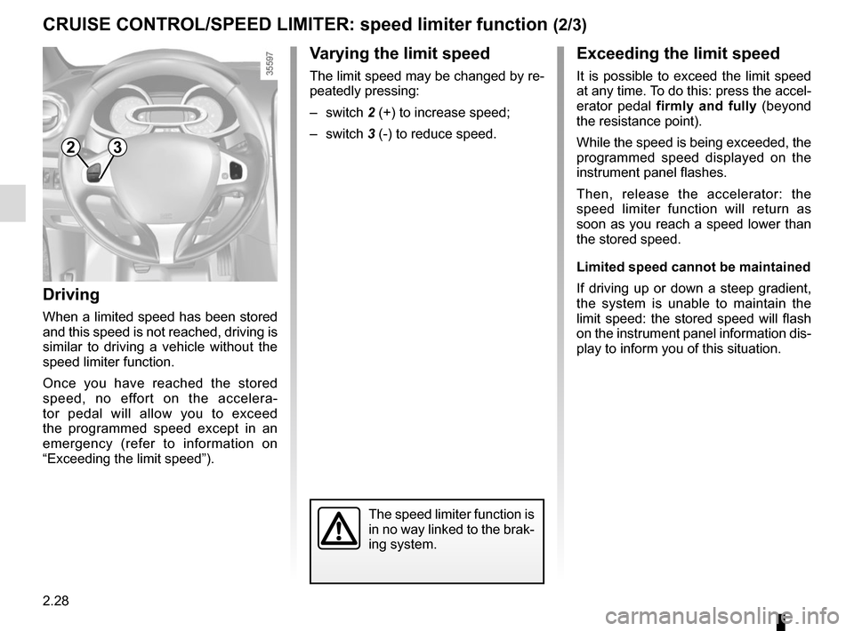 RENAULT CLIO SPORT TOURER 2015 X98 / 4.G Owners Manual, Page 118