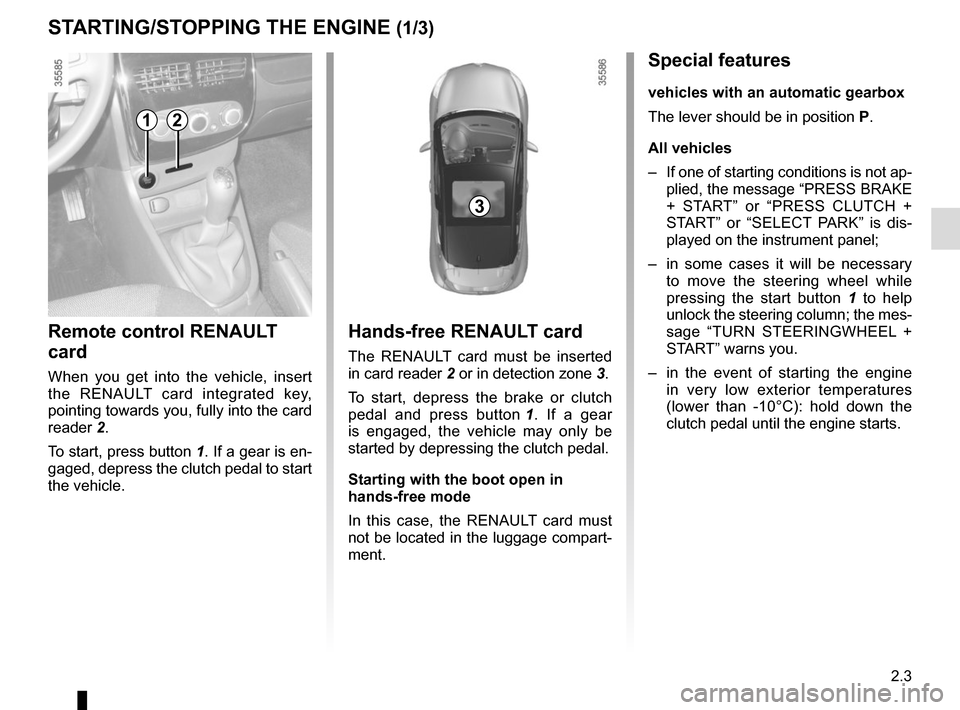 RENAULT CLIO SPORT TOURER 2015 X98 / 4.G Owners Manual, Page 93