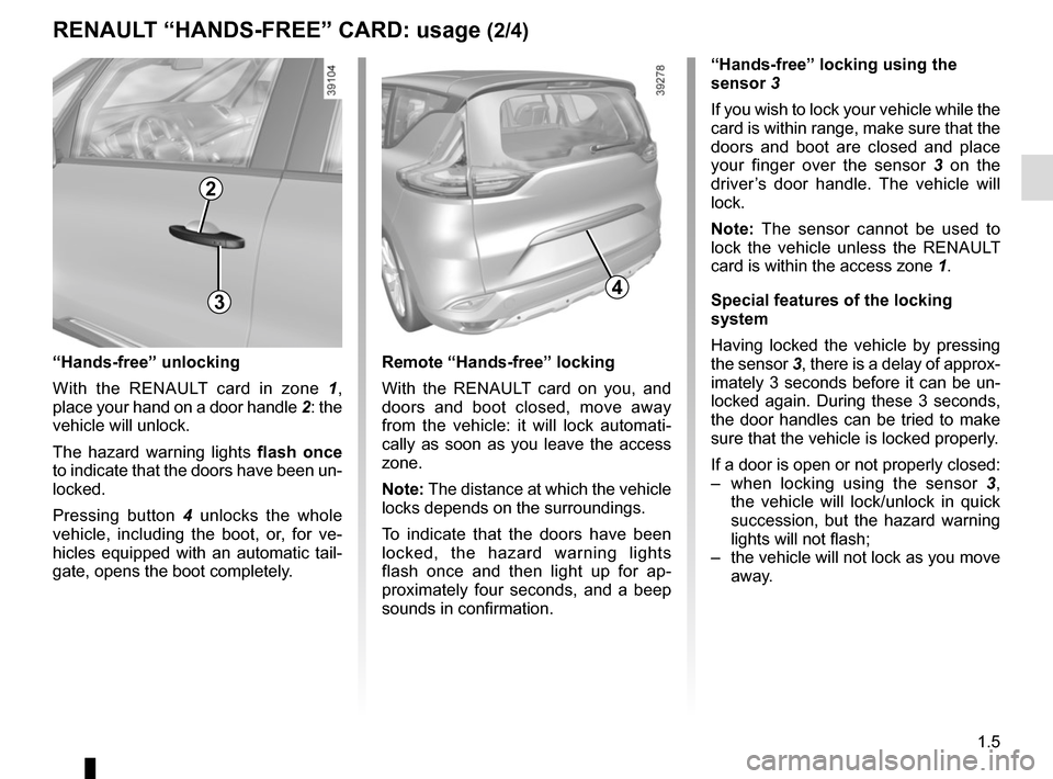 RENAULT ESPACE 2015 5.G Owners Manual, Page 11