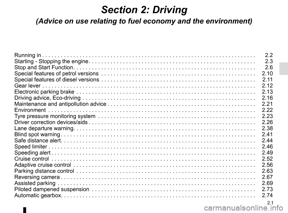 RENAULT ESPACE 2015 5.G Owners Manual, Page 113