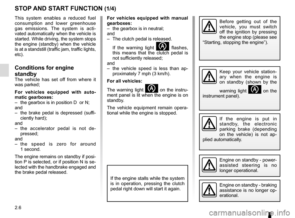 RENAULT ESPACE 2015 5.G Owners Manual, Page 118