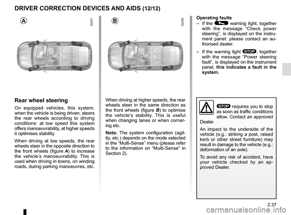 RENAULT ESPACE 2015 5.G Owners Manual, Page 149